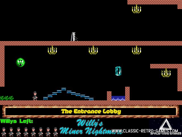 Jet Set Willy (Willy's Miner Nightmare) remake screenshot