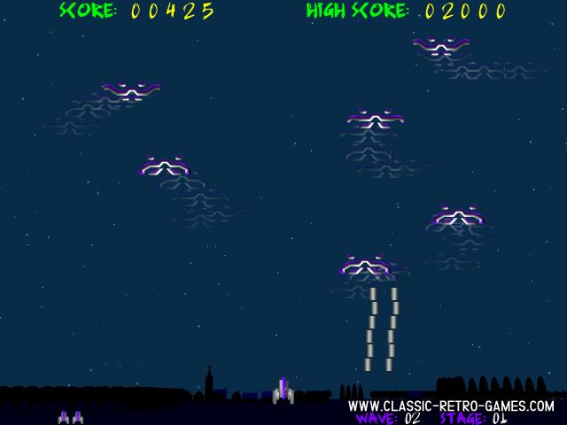 Demon Attack remake screenshot