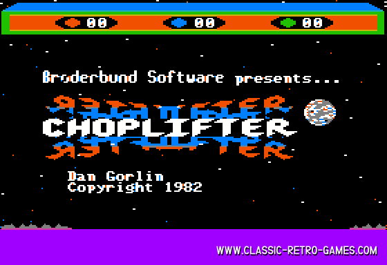 Choplifter original screenshot