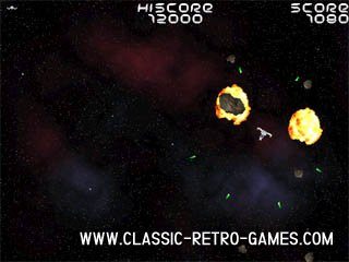 Asteroids remake screenshot