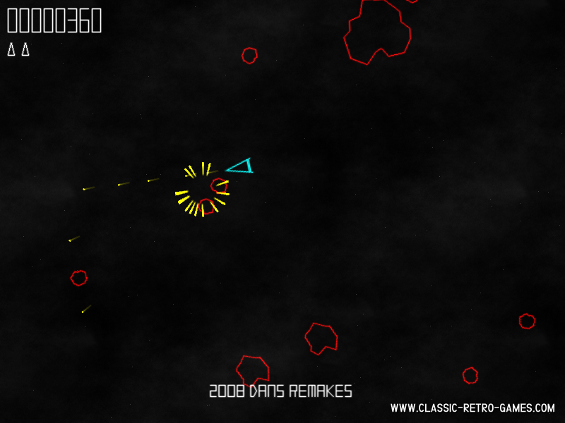 Asteroids (2) remake screenshot
