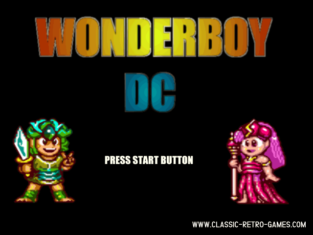 Wonderboy remake screenshot