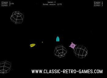 Asteroids (3) remake screenshot