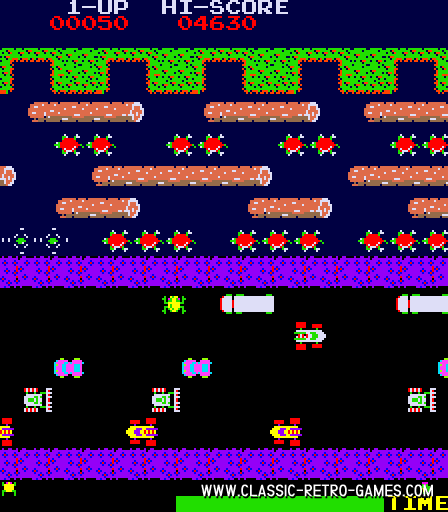Frogger original screenshot