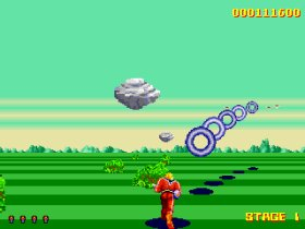 Space Harrier remake screenshot