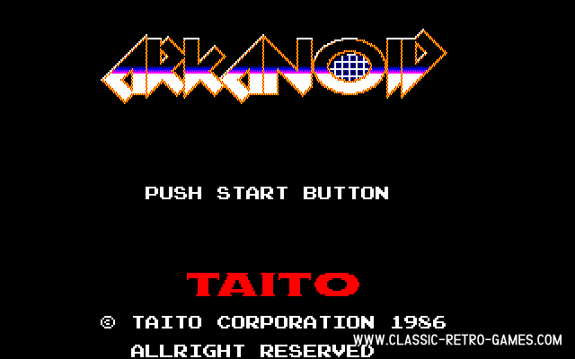 Arkanoid original screenshot