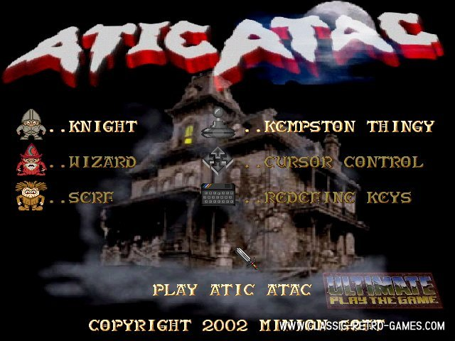 Atic atac remake screenshot