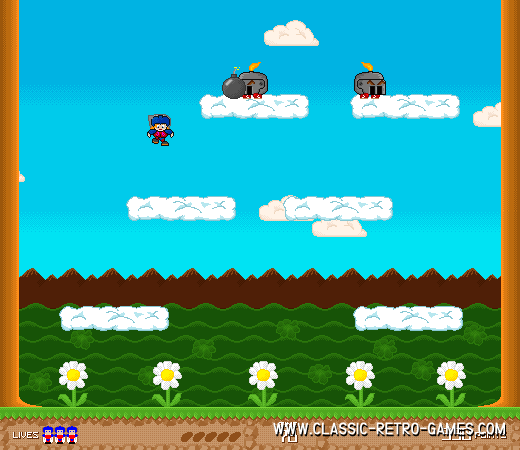 Bomb Jack remake screenshot