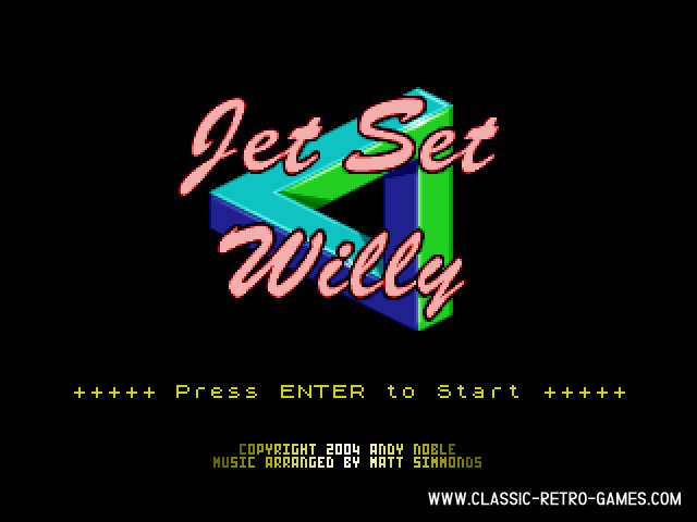 Jet Set Willy remake screenshot