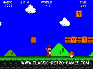 Super Mario Bros. (with 2 player mode) remake screenshot