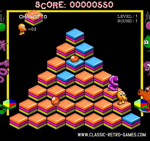 Q-Bert remake screenshot