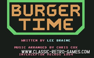 Burgertime original screenshot