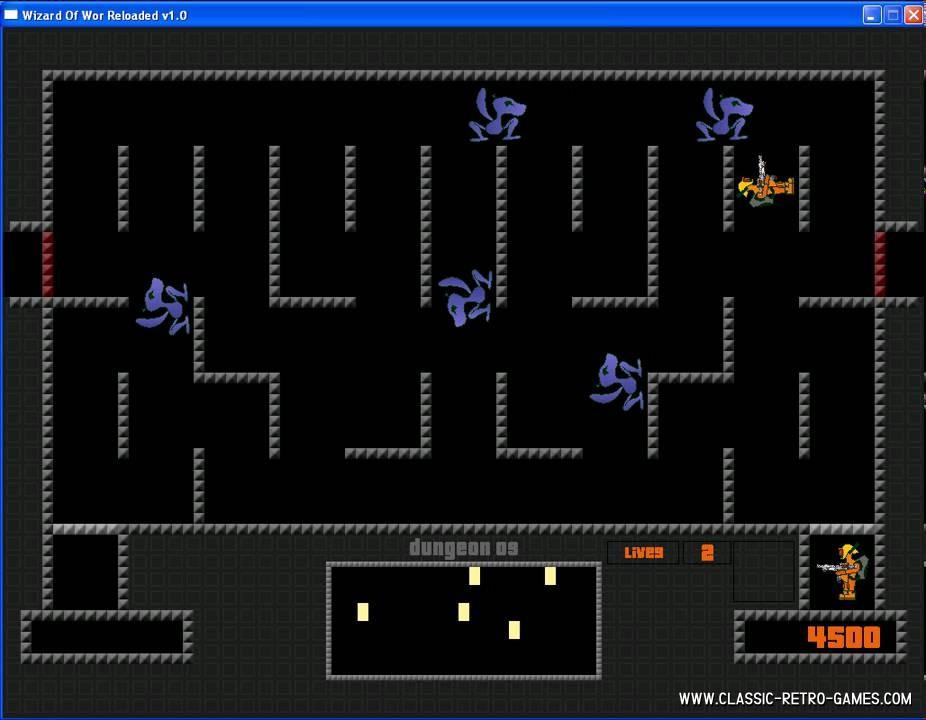 Wizard of Wor remake screenshot