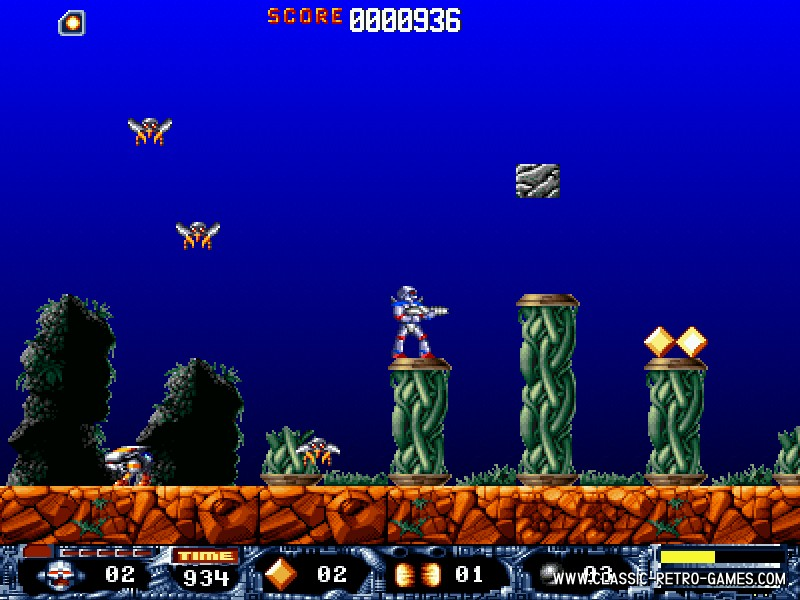 Turrican remake screenshot