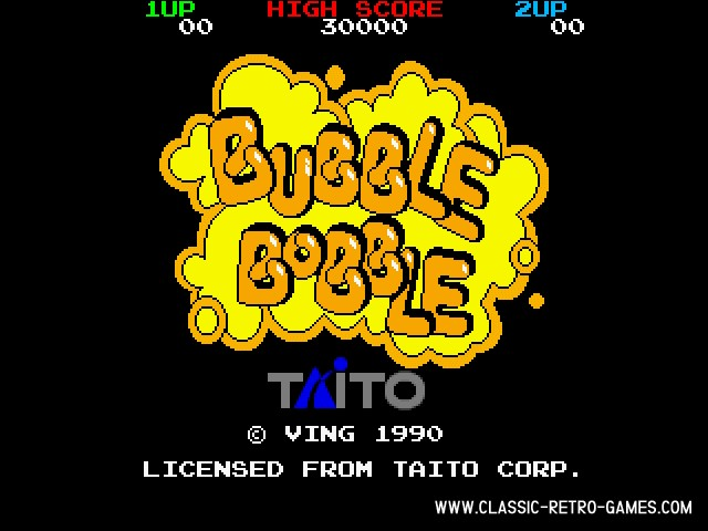 Bubble Bobble original screenshot