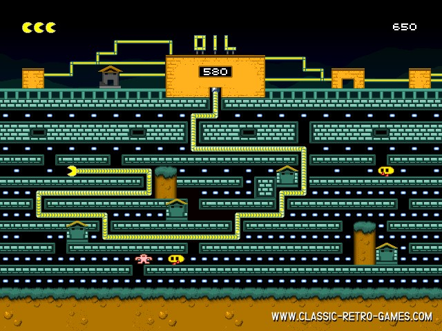Oil's Well (Tubopac) remake screenshot