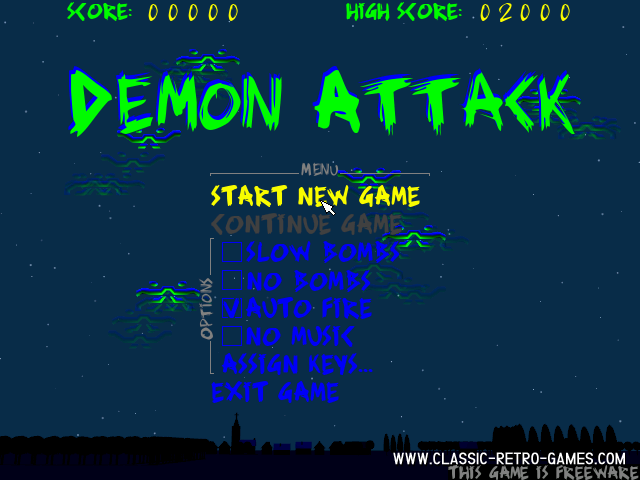 Demon Attack remake screenshot