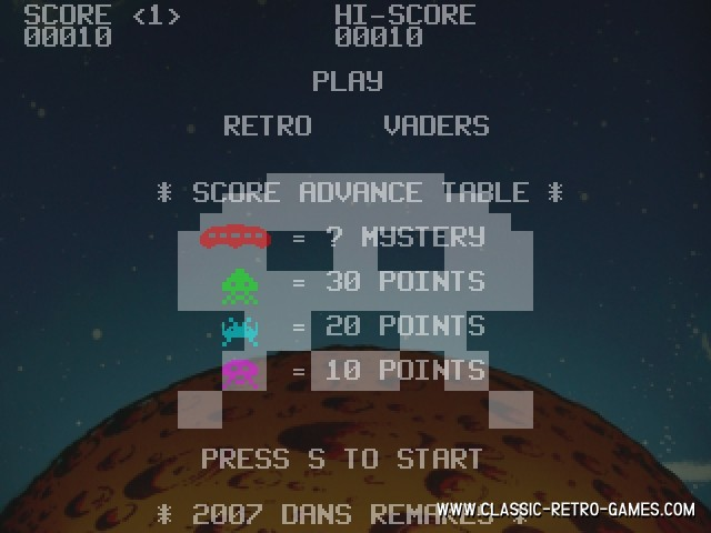 Space Invaders (4) remake screenshot