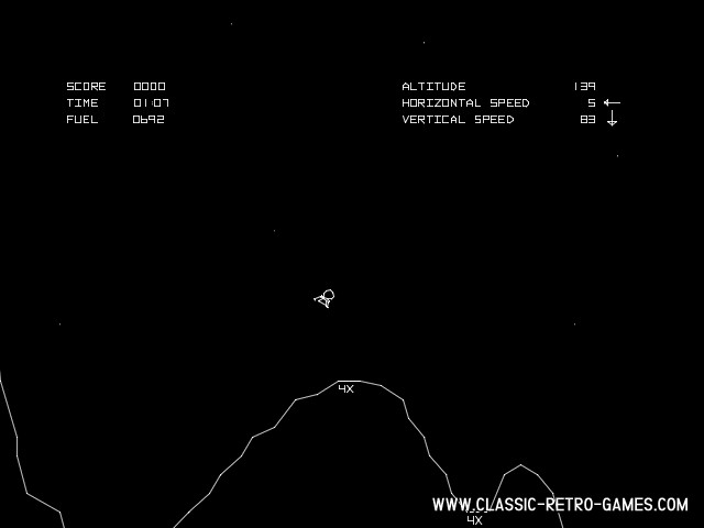 Lunar Lander original screenshot