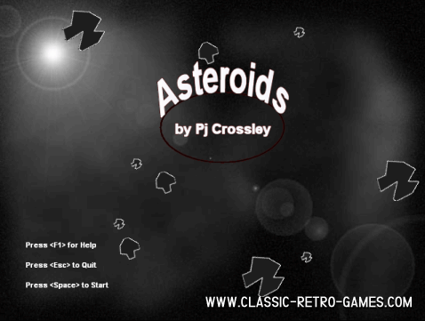 Asteroids (4) remake screenshot