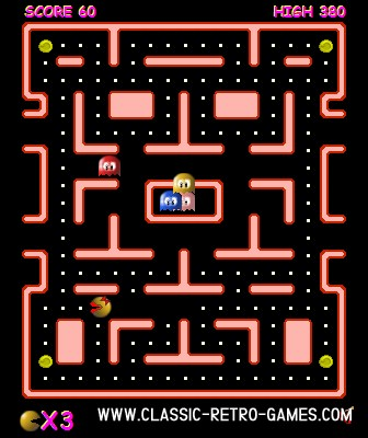 Ms Pacman remake screenshot