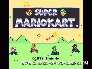 Super Mario Kart original screenshot