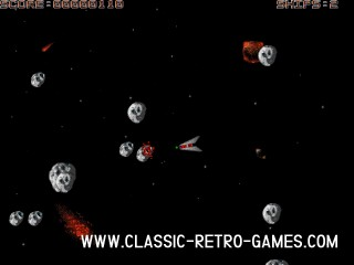 Asteroids (5) remake screenshot