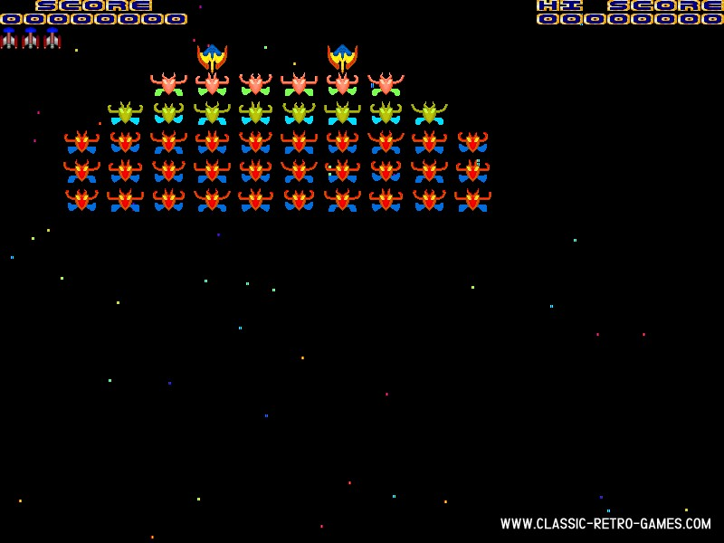 Galaxian remake screenshot