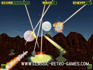 Missile Command remake screenshot