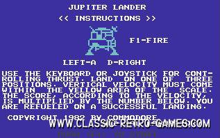 Jupiter Lander remake screenshot