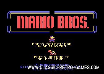 Mario Bros original screenshot
