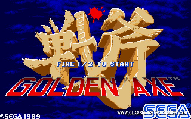 Golden Axe original screenshot