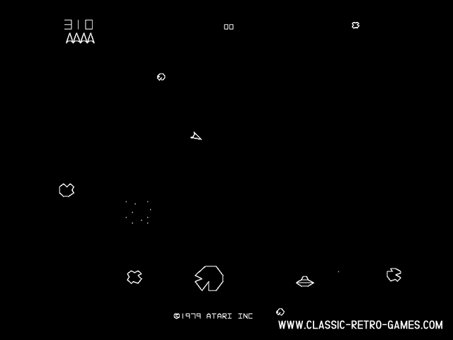Asteroids original screenshot