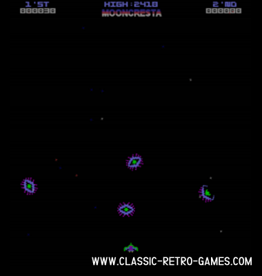 Moon Cresta remake screenshot