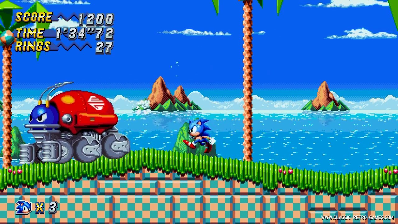 Sonic Chaos remake screenshot