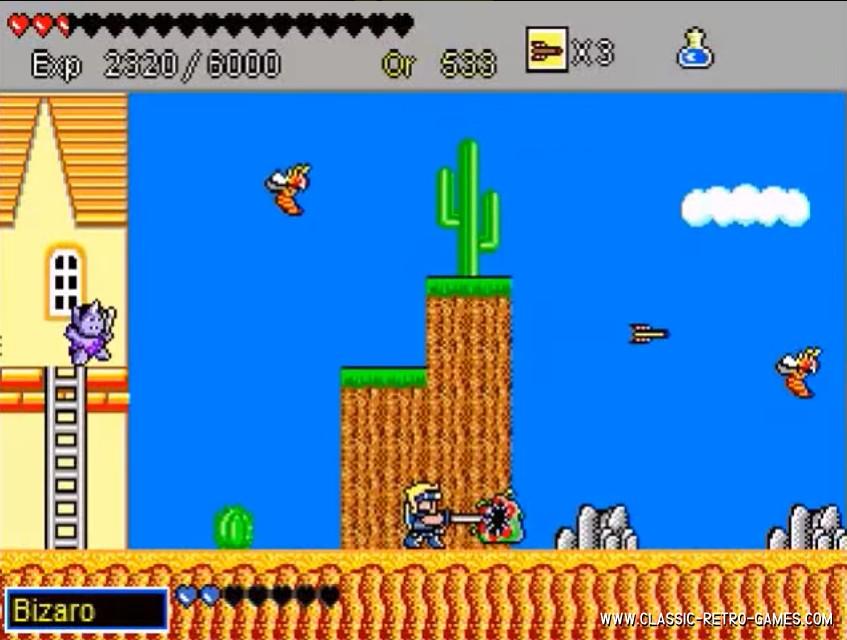 Wonderboy remake screenshot