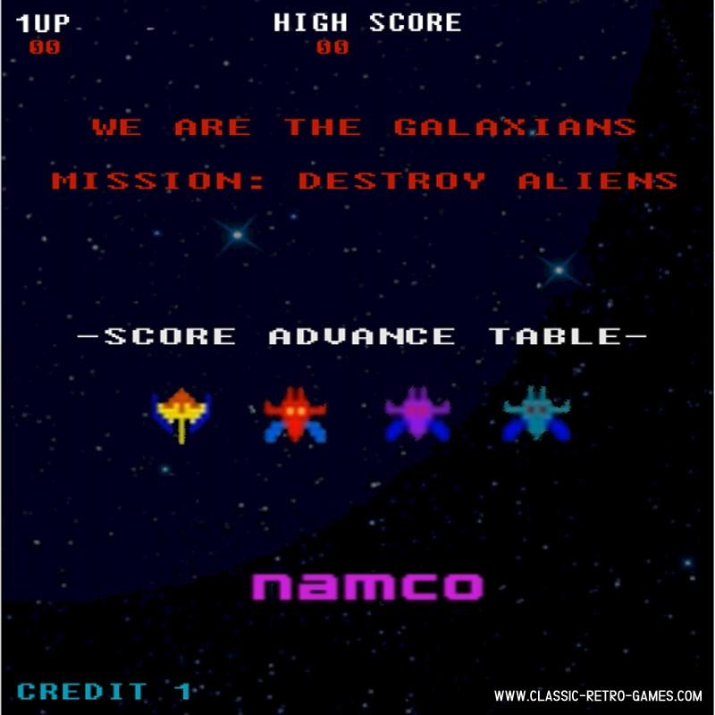 Galaxian remake screenshot