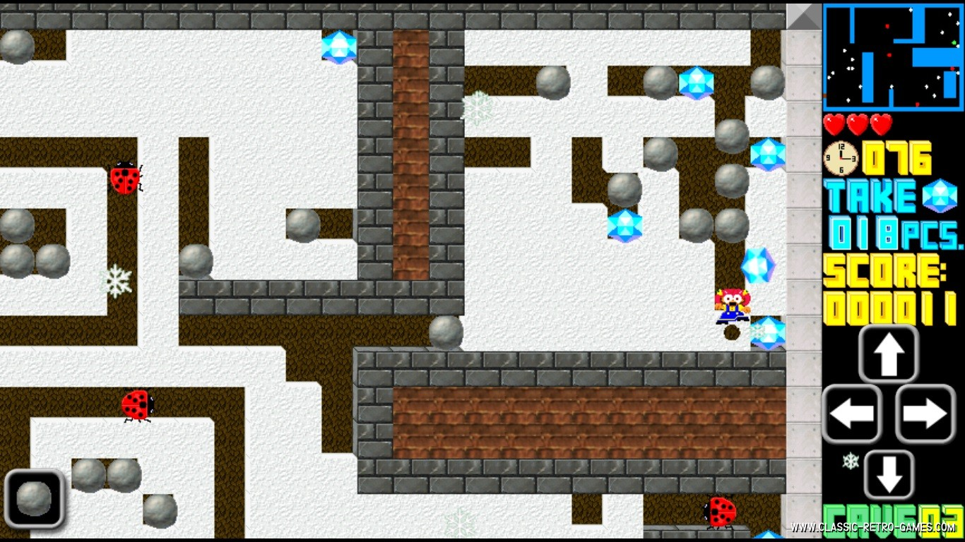 Boulder Dash remake screenshot