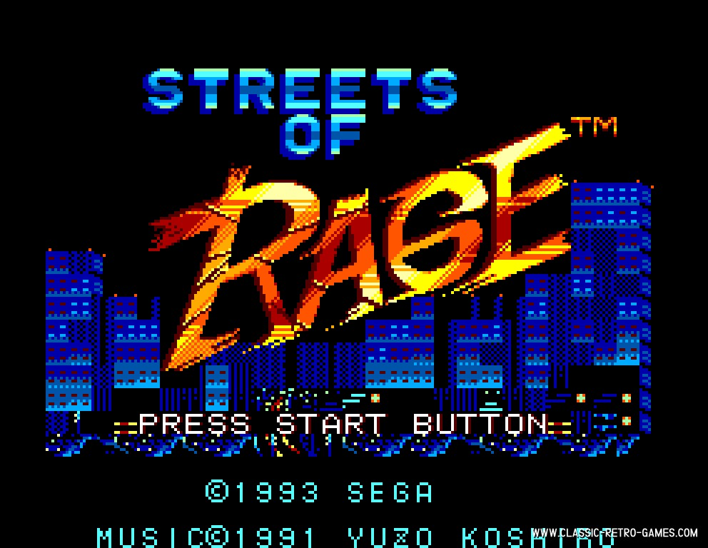 Streets of Rage original screenshot