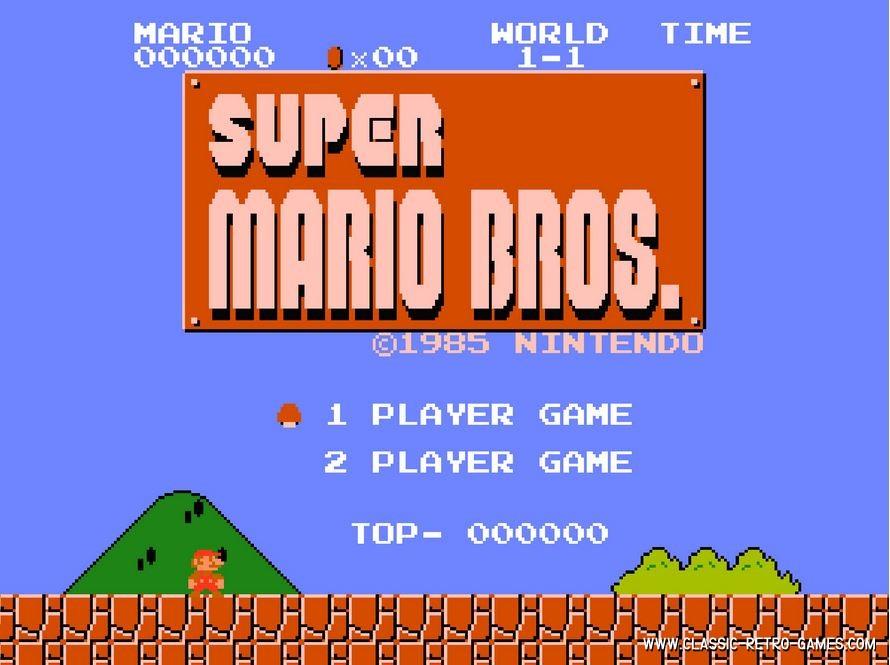 Super Mario Bros. (with 2 player mode) original screenshot