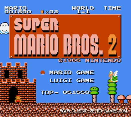 Super Mario Bros. 2 original screenshot